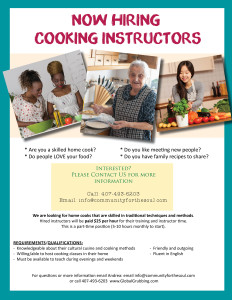 Now Hiring Cooking Instructors